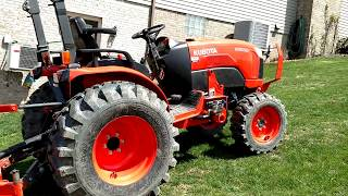 10. Kubota B2650 with LP FDR2572 mower part 2