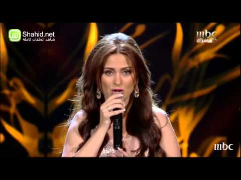 "فرح يوسف تغني ""Someone Like You"" على مسرح ""Arab Idol"""