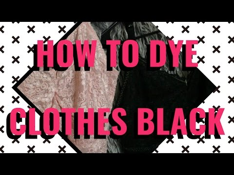 How to Dye Clothes Black - Lace Fabric | Ashen Tigress