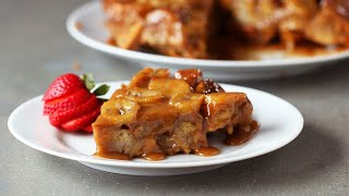 Upside-Down Peanut Butter Banana French Toast Bake by Tasty