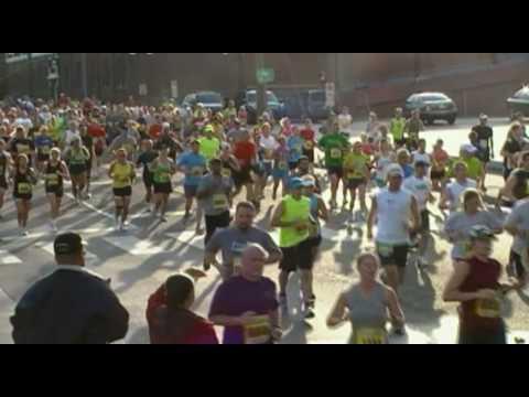 Sport Physiologie Klasse endet mit Marathon