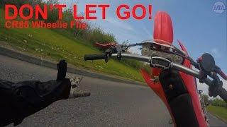 9. Flipped the CR85 mid-wheelie