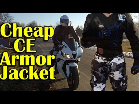 CHEAP Full Body CE Armor Jacket Review - Urban Motorcycle Gear - Perrini Armor Jacket Review (видео)