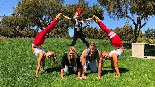 Extreme Yoga Challenge Ft Sav, Cole & Everleigh