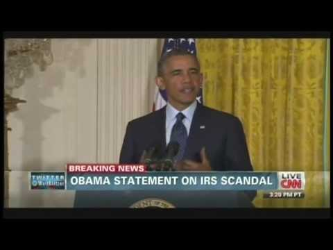 President Obama Internal Revenue Service Statement (May 15, 2013)