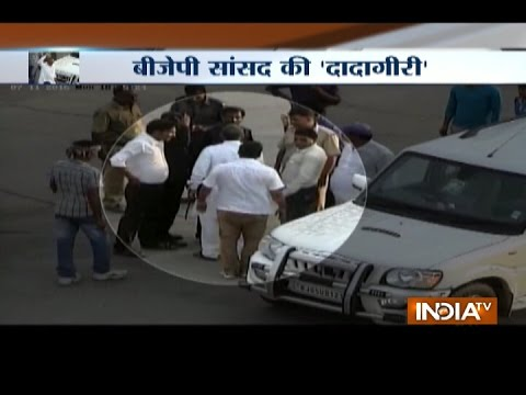 CCTV footage: BJP MP Bahadur Singh Koli gets into a scuffle with toll guard