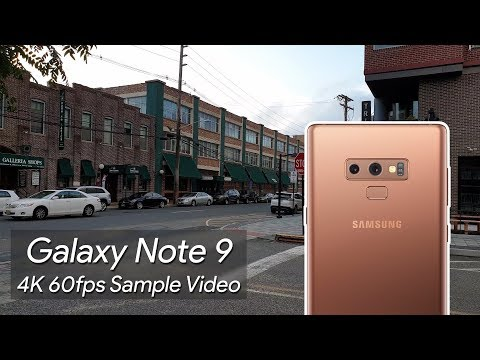 Samsung Galaxy Note 9 4K 60fps Sample Video 2