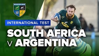 South Africa v Argentina Rugby World Cup warm up video highlights