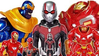 Video Thanos vs Avengers, Go~! Ant-Man, Spider Man, Hulk, Iron Man, Captain America, Hulkbuster Toys Play MP3, 3GP, MP4, WEBM, AVI, FLV November 2018