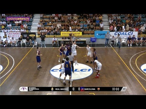 U16M - REAL MADRID Vs FC BARCELONA.- III Torneo Cadete Sant Josep 2018 (BasketCantera.TV)