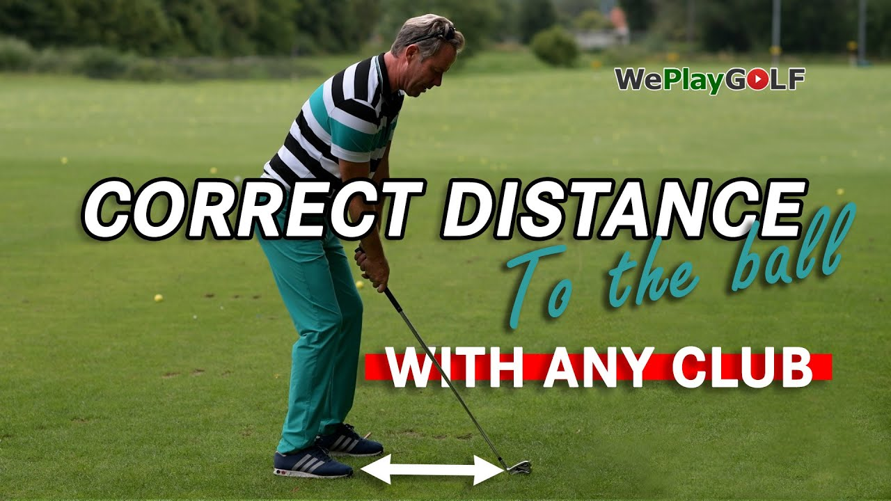Always the correct distance between you and the golf ball - With ANY golf club!