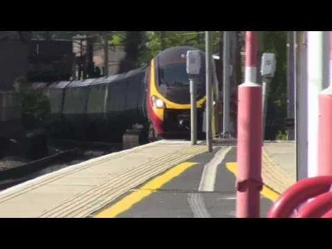 Virgin Pendolino Class 390 Pulling Into Macclesfield Station (Part 2)
