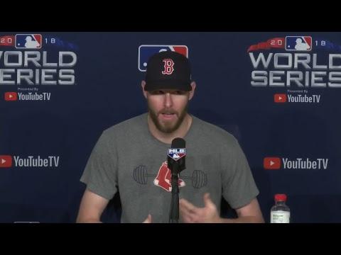 Video: Chris Sale World Series Game 4 Pregame Press Conference