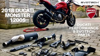 6. 2018 DUCATI MONSTER 1200S, Accessories fitted from Ducati Performance & Evotech