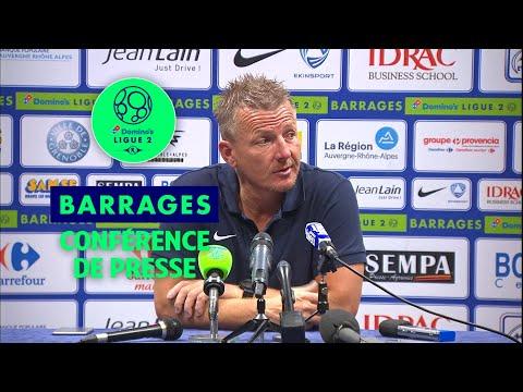 Conférence de presse GF38 - Bourg en Bresse 01 ( 2-1 )  / 2017-18 (видео)