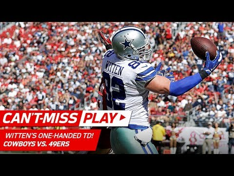 Video: Jason Witten Makes this One-Handed TD Grab Look Easy! | Can't-Miss Play | NFL Wk 7 Highlights