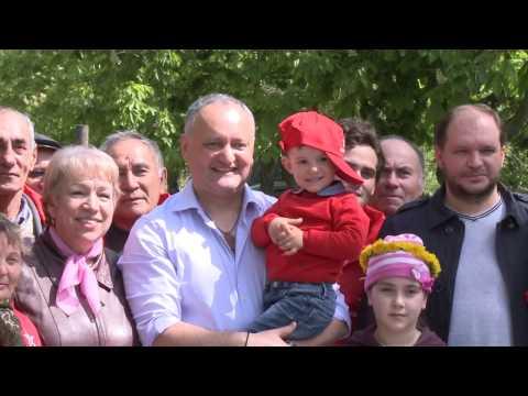 Igor Dodon, Președintele Republicii Moldova a participat la acțiunile de amenajare a teritoriului