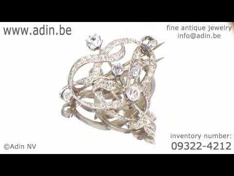 Stylish Art Nouveau paste brooch (09322-4212)