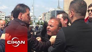 Eski emniyet müdürü Yasin Topçu adliye önünde yaka paça gözaltına alındı