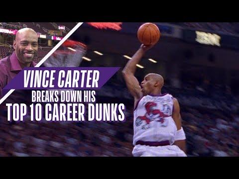 Vince Carter Ranks His Top 10 Career NBA Dunks!