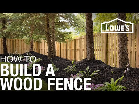 How to Build a Wood Fence