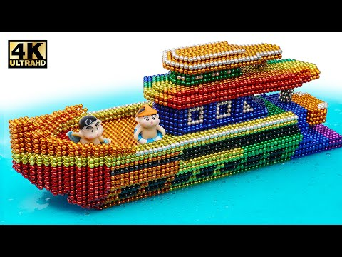 DIY - How To Make Modern Yatch From Magnetic Balls ( Satisfaction ) | Magnet World 4K - Thời lượng: 10:28.