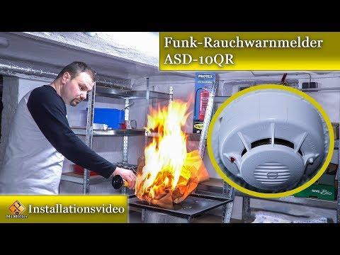 Funk Rauchwarnmelder - ASD-10QR / Installation, Vernetzung & Test