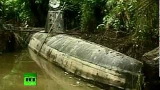 A narcotics trafficking submarine has been discovered by authorities in Colombia. It's believed the vessel is able to travel from...