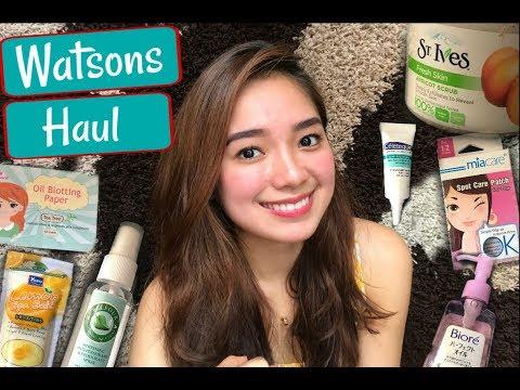 WATSONS HAUL 2017! (Skincare) | Philippines (видео)