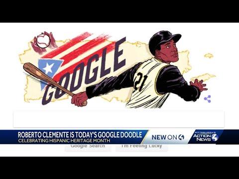 Google Doodle honors Roberto Clemente