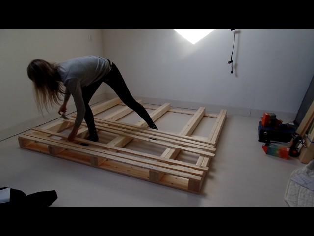 Pallet bed frame - DIY