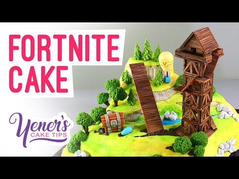 FORTNITE CAKE Tutorial | Yeners Cake Tips With Serdar Yener From Yeners Way