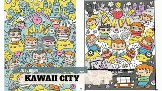 How To Draw Kawaii City- Doodles by Garbi KW