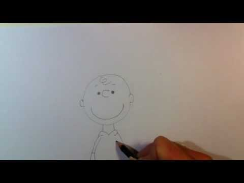 Charlie Brown von snoopy zeichnen lernen- Comicfigur zeichnen