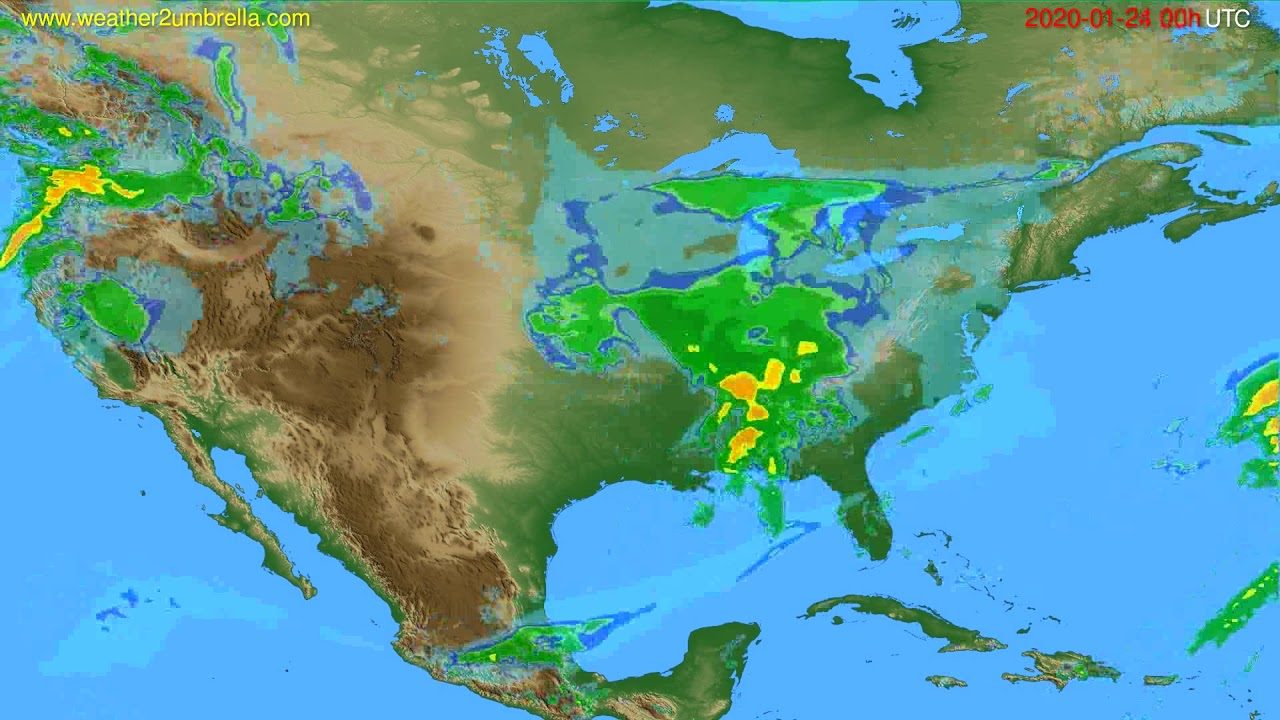 Radar forecast USA & Canada // modelrun: 12h UTC 2020-01-23