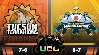 Pokémon ORAS LIVE Wi-Fi Battle [UCL S2W14] Tucson Terrakions vs Manchester Magnezones by King Nappy