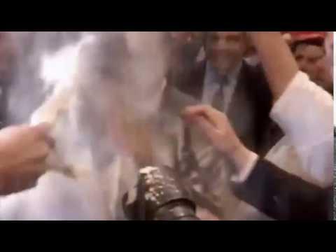 Αλεύρωμα του Γάλλου πολιτικού Φιγιόν στο Στρασβούργο
