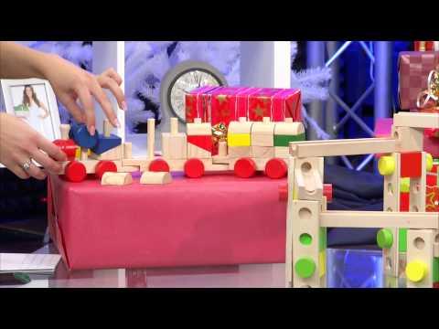 Playtastic Kugelbahn-Bausatz aus Holz, 50-teilig