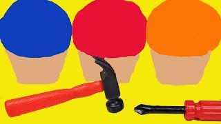 Educational video teaching colors. Two dinos unearth surprise eggs from kinetic sand ice cream cups, getting some help from tools such as a hammer and wrench. Surprises include Mickey Mouse, Disney Frozen, Peppa Pig and more!More videos:More videos:Double decker London bus wooden toy educational video learn colors 3d geometrical shapeshttps://www.youtube.com/watch?v=c861hW3kUzwLearn names of fruits and vegetables with toy velcro cutting fruits and vegetables esl asmrhttps://www.youtube.com/watch?v=D9p7cvjkUAEToy Kitchen velcro fruit vegetables cooking soup baking bread cookies toy food asmrhttps://www.youtube.com/watch?v=POtVaIEVDv4Baby toy learning video learn colors with wooden toys for babies toddlers preschoolers learn englishhttps://www.youtube.com/watch?v=RXkAq9p24FQ