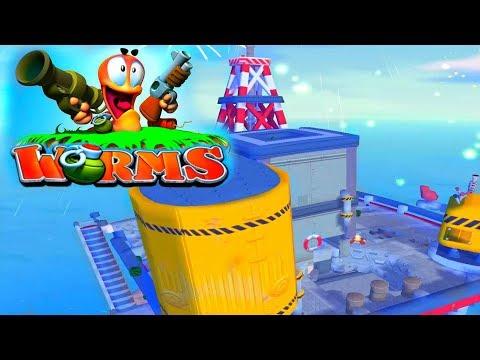 Worms 4  Mayhem! Четыре игрока # 1