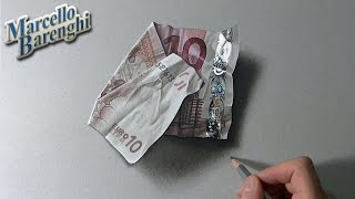 One Man With Incredible Drawing Skills - Watch Him Draw A Realistic 10 Euro Note