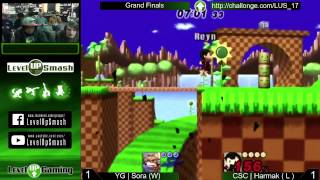 Level Up Smash 1.7 Grand Finals YG | Sora (Fox) vs CSC | Harmak (Ness)