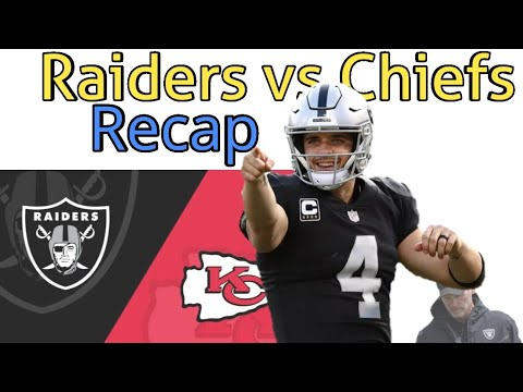 Oakland Raiders vs Kansas City Chiefs Recap