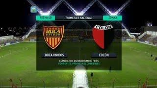Fútbol En Vivo. Boca Unidos - Colón. Fecha 11. Torneo Primera B Nacional. FPT.