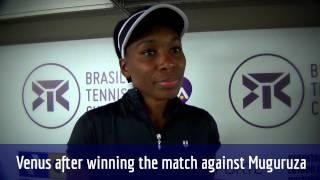 Venus Williams comenta vitoria sobre Garbiñe Muguruza em Florianópolis