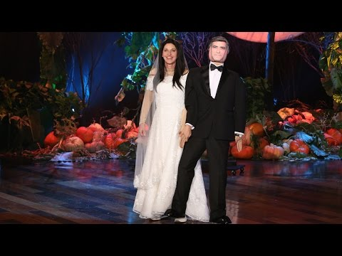 The Ellen Show - This year Ellen dressed as Amal Alamuddin, accomplished human rights lawyer and activist who also just so happened to have married George Clooney! He was there, too. Right next to Ellen!