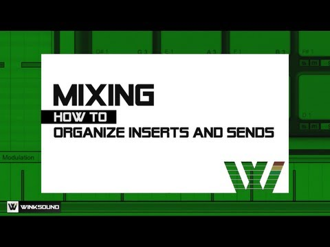 How To Organize Inserts and Sends | WinkSound