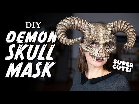 DIY Demon Skull Mask Tutorial