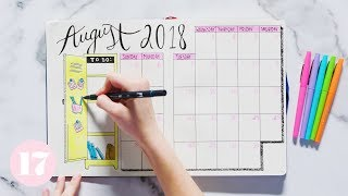 August 2018 Bullet Journal Setup   Plan With Me by Seventeen Magazine