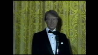 President Jimmy Carter speaks at an AFI White House reception in 1977.